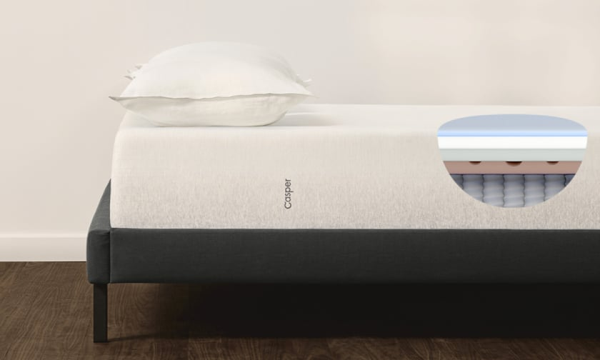 Casper The Wave Mattress review - hybrid mattress interior illustration - BedTester.com